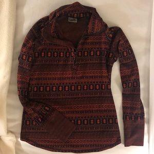 Kavu Women's Size Medium Long Sleeve 1/2 zip Top🌲